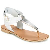 Shoes Női Szandálok / Saruk Betty London VITALLA Ezüst / Fehér
