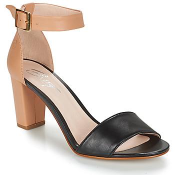 Cipők Női Szandálok / Saruk Betty London CRETA Bőrszínű / Fekete