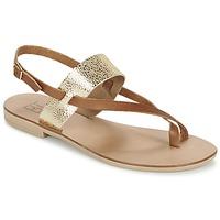 Cipők Női Szandálok / Saruk Betty London EVACI Teve / Arany