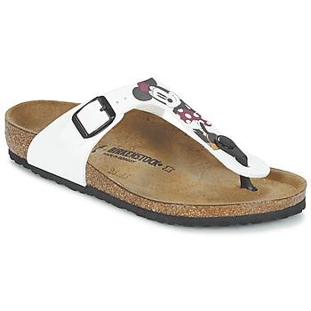 Cipők Gyerek Lábujjközös papucsok Birkenstock GIZEH Fehér / Piros
