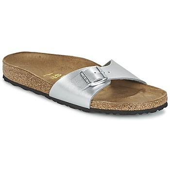 Cipők Női Papucsok Birkenstock MADRID Ezüst