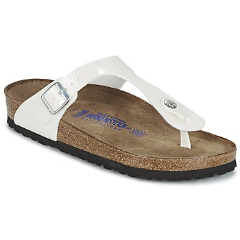 Cipők Női Lábujjközös papucsok Birkenstock GIZEH Fehér