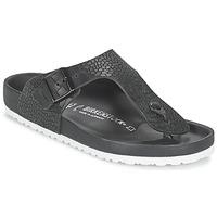 Cipők Férfi Lábujjközös papucsok Birkenstock RAMSES PREMIUM Fekete
