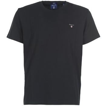 Ruhák Férfi Rövid ujjú pólók Gant THE ORIGINAL SOLID T-SHIRT Fekete