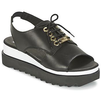 Cipők Női Szandálok / Saruk Love Moschino BASIC SANDAL Fekete  / Fehér