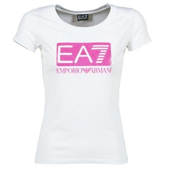 Ruhák Női Rövid ujjú pólók Emporio Armani EA7 BEAKON Fehér