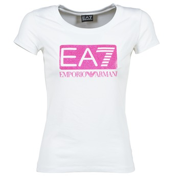 material Női Rövid ujjú pólók Emporio Armani EA7 BEAKON Fehér