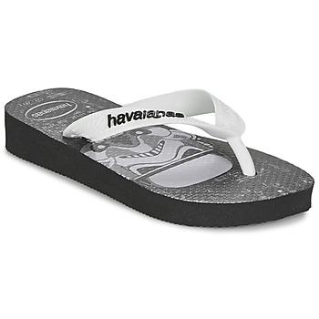 Cipők Fiú Lábujjközös papucsok Havaianas STAR WARS Fekete  / Fehér