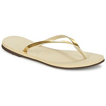 Cipők Női Lábujjközös papucsok Havaianas YOU METALLIC Arany