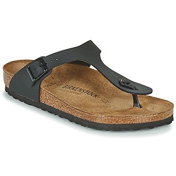 Cipők Női Lábujjközös papucsok Birkenstock GIZEH Fekete