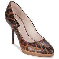 Cipők Női Félcipők Escada AS701 Barna / Leopárd