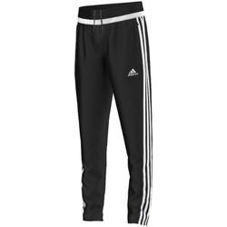 Ruhák Fiú Futónadrágok / Melegítők adidas Originals tiro15 Training Pant Jr BLACK / WHITE / BLACK