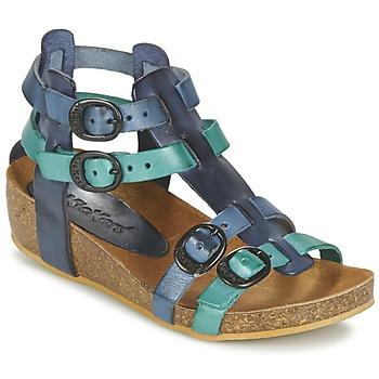 Shoes Lány Szandálok / Saruk Kickers BOMDIA Kék