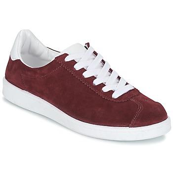 Cipők Női Rövid szárú edzőcipők Yurban EMARTI Bordó