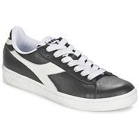 Cipők Rövid szárú edzőcipők Diadora GAME L LOW Fekete  / Fehér