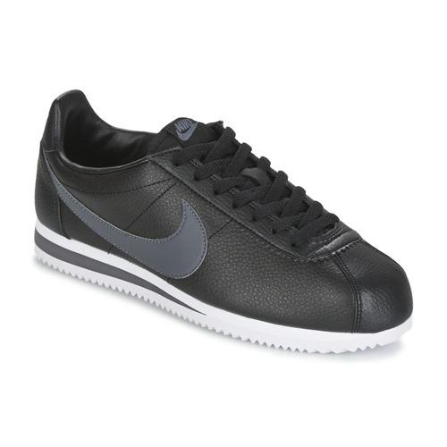 Cipők Férfi Rövid szárú edzőcipők Nike CLASSIC CORTEZ LEATHER Fekete    Szürke 8317b5efb0