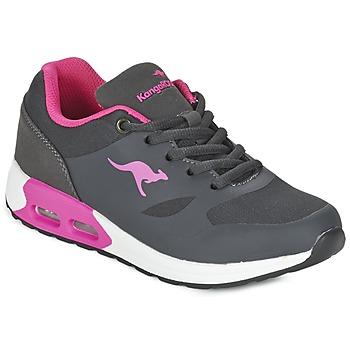 Cipők Lány Rövid szárú edzőcipők Kangaroos KANGA X Szürke / Rózsaszín