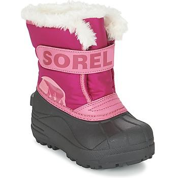 Cipők Gyerek Hótaposók Sorel CHILDRENS SNOW COMMANDER Rózsaszín