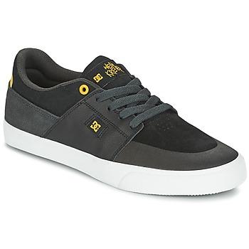 Cipők Férfi Rövid szárú edzőcipők DC Shoes WES KREMER Fekete  / Szürke / Citromsárga