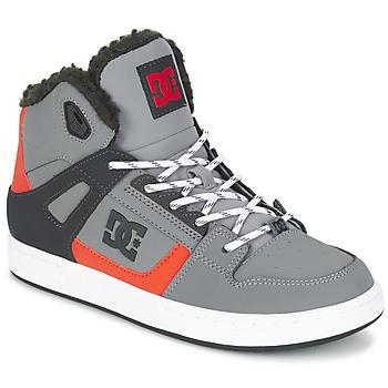 Cipők Gyerek Magas szárú edzőcipők DC Shoes REBOUND WNT B SHOE XSKN Szürke / Fekete  / Narancssárga