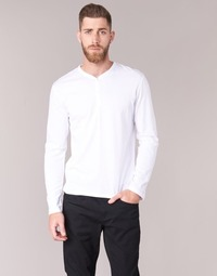 Ruhák Férfi Hosszú ujjú pólók BOTD ETUNAMA Fehér