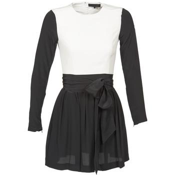 material Női Rövid ruhák American Retro STANLEY Fekete  / Fehér