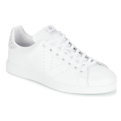 Cipők Női Rövid szárú edzőcipők Victoria DEPORTIVO BASKET PIEL Fehér / Ezüst