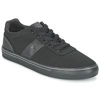 Cipők Férfi Rövid szárú edzőcipők Polo Ralph Lauren HANFORD-NE Fekete