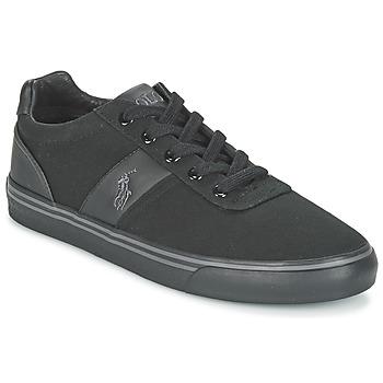 Cipők Férfi Rövid szárú edzőcipők Ralph Lauren HANFORD-NE Fekete