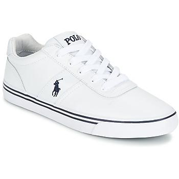 Cipők Férfi Rövid szárú edzőcipők Ralph Lauren HANFORD Fehér