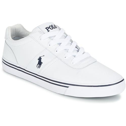 Cipők Férfi Rövid szárú edzőcipők Polo Ralph Lauren HANFORD Fehér