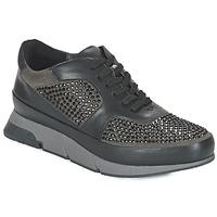 Cipők Női Rövid szárú edzőcipők Luciano Barachini OXFORD Fekete  / Szürke
