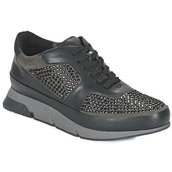 Shoes Női Rövid szárú edzőcipők Luciano Barachini OXFORD Fekete  / Szürke