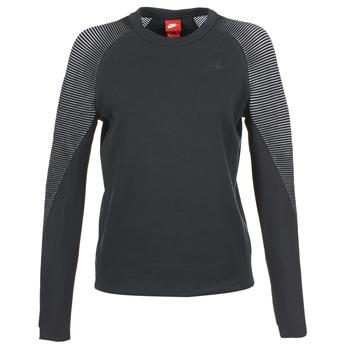 material Női Pulóverek Nike TECH FLEECE CREW Fekete