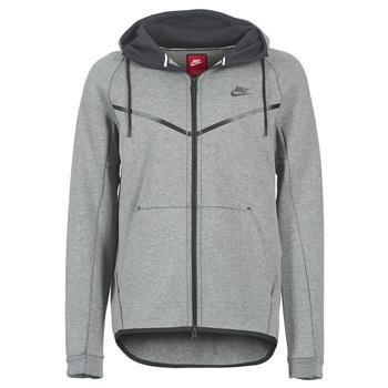 Ruhák Férfi Dzsekik Nike TECH FLEECE WINDRUNNER HOODIE Szürke