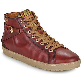 Cipők Női Magas szárú edzőcipők Pikolinos LAGOS 901 Bordó