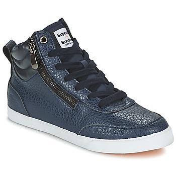 Cipők Női Magas szárú edzőcipők Superdry NANO ZIP HI TOP SNEAKER Kék