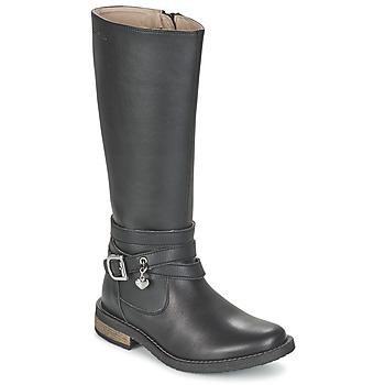 Shoes Lány Városi csizmák Garvalin IRATIA Fekete