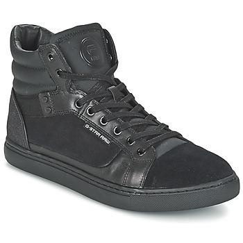 Cipők Férfi Magas szárú edzőcipők G-Star Raw NEW AUGUR Fekete