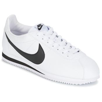 Cipők Férfi Rövid szárú edzőcipők Nike CLASSIC CORTEZ LEATHER Fehér / Fekete