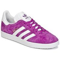 Shoes Női Rövid szárú edzőcipők adidas Originals GAZELLE Lila