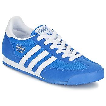 Cipők Fiú Rövid szárú edzőcipők adidas Originals DRAGON J Kék