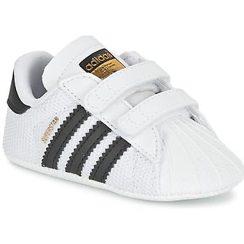 Cipők Gyerek Rövid szárú edzőcipők adidas Originals SUPERSTAR CRIB Fehér