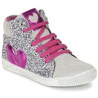 Cipők Lány Magas szárú edzőcipők Agatha Ruiz de la Prada BUSOULI Ezüst
