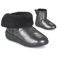 Cipők Női Csizmák FitFlop SUPERCUSH MUKLOAFF SHIMMER Ezüst