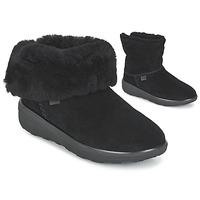 Cipők Női Csizmák FitFlop MUKLUK SHORTY 2 BOOTS Fekete
