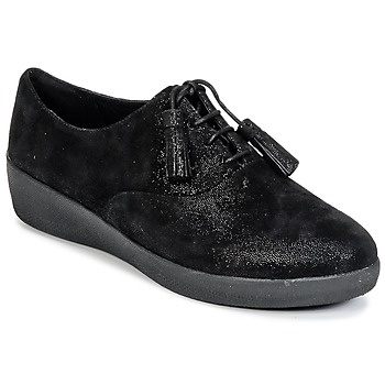 Cipők Női Oxford cipők FitFlop CLASSIC TASSEL SUPEROXFORD Fekete