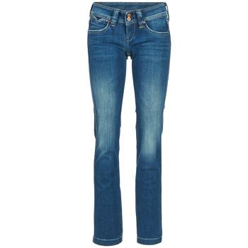 Ruhák Női Egyenes szárú farmerek Pepe jeans BANJI Kék
