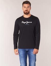 Ruhák Férfi Hosszú ujjú pólók Pepe jeans EGGO LONG Fekete