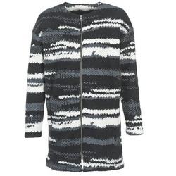 material Női Kabátok Bench EVENING Fekete  / Fehér / Szürke